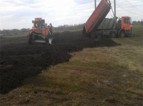 Project of topsoil conditioning in Kyiashky village
