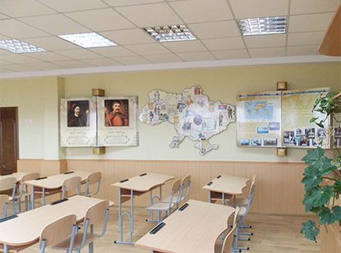 Technical re-equipment of classroom in Dmitrovka village